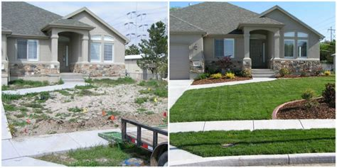 landscaping before and after before and after pictures of front yard landscaping pdf