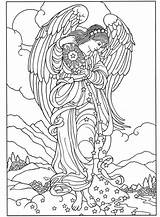 Adults Angel Coloring Pages Everfreecoloring sketch template