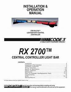 Code 3 Rx 2700cc User Manual