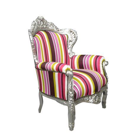 fauteuil baroque multicolore chaises et meubles art d 233 co