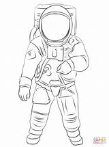 Astronaut Coloring Moon Buzz Aldrin Clipart Space Drawing Suit Printable Cartoon Nasa Spacesuit Outline Helmet Draw Drawings Colouring Astronauts Spaceman sketch template