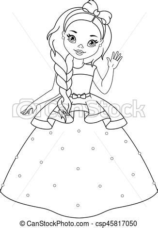 liden coloring prinsesse side cute lille prinsesse