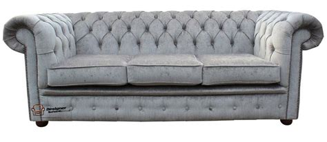 Settees Ebay by Brand New Chesterfield 3 Seater Nuovo Ash Grey Fabric Sofa
