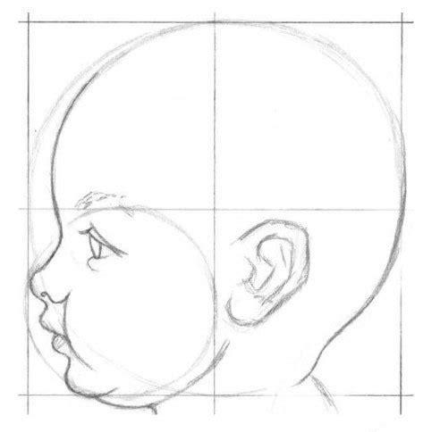 bilder malen leicht ein baby malen anleitung dekoking diy bastelideen dekoideen zeichnen lernen