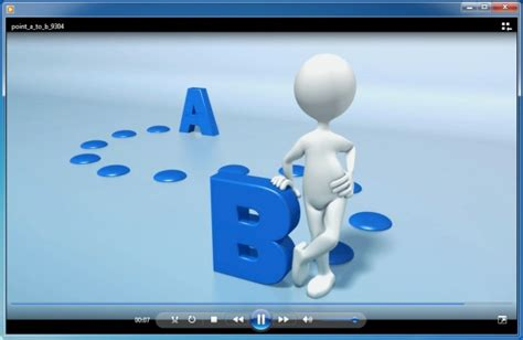 free animated powerpoint powerpoint template with animation going from point a to