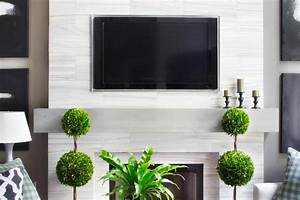 Make a Modern, Floating Wood Mantel HGTV