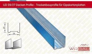 Profile Trockenbau Decke : ud decken profil trockenbauprofile f r gipskartonplatten g nstige baustoffe online ~ Orissabook.com Haus und Dekorationen