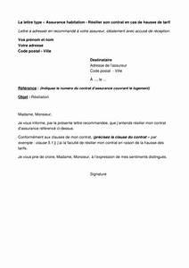 Resiliation Assurance Auto Vente : assurance habitation r silier son contrat en cas de hausse de tarif lettre type ufc que ~ Gottalentnigeria.com Avis de Voitures