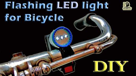 how to make led light for bike using transistor