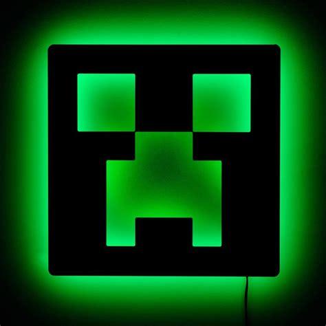 Minecraft Bedroom Light by Lighted Minecraft Creeper Sign Minecraft Room