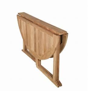 Table Jardin Bois Pliante : table ronde pliante bois table basse et pliante ~ Teatrodelosmanantiales.com Idées de Décoration