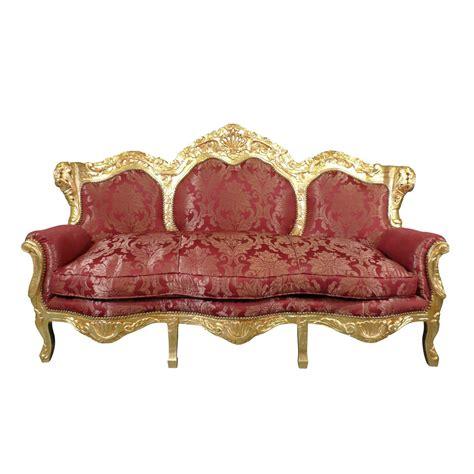 canapé baroque pas cher sofá rojo y de oro barroco muebles barrocos