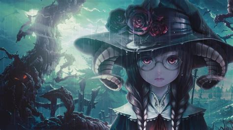 Anime Girl Witch Wallpaper Wallpaper Another Witch Anime Girl