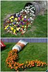 DIY Garden Art Decorating Ideas Instructions flower garden ideas and decorations