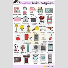 Household Appliances Useful Home Appliances List With Pictures  English Expressions English