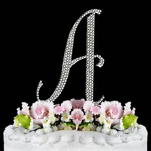 silver crystal encrusted anniversary wedding cake topper With silver cake topper letters