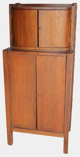 mission style liquor mission oak liquor with humidor for the home
