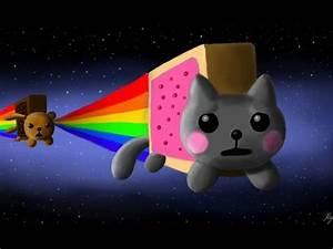 Este gato caga un arcoiris Nyan Cat 1