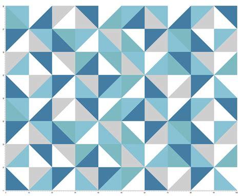papier peint bleu geometrique