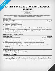 entry level engineering sample resume resumecompanioncom With entry level mechanical engineering resume