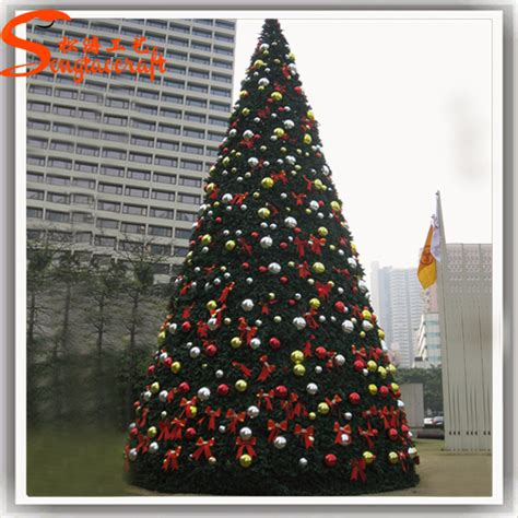 large led artificial giant christmas tree stand fiber optic snowing christmas tree for sale