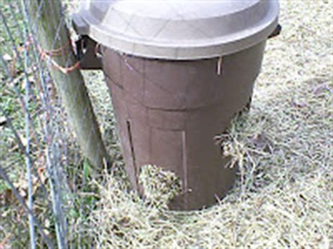 goat mineral feeder oak hill fainting goats diy hay mineral feeders for goats