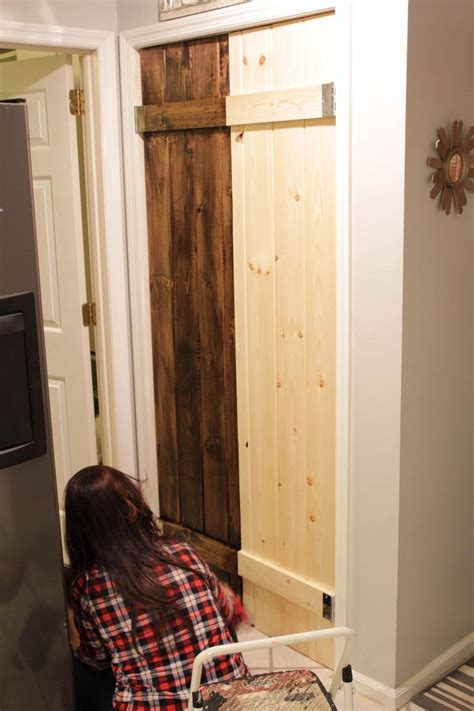 hometalk double pantry barn door diy