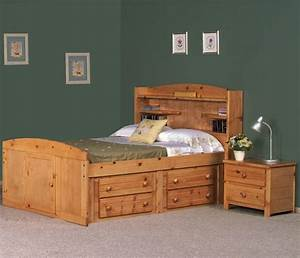 Full Palomino Bed w/ Four Drawer Storage by Trendwood