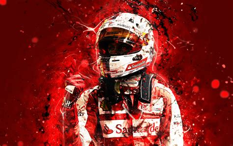 wallpapers  sebastian vettel abstract art