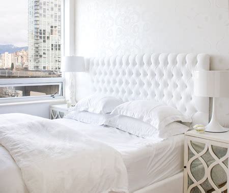 white tufted headboards