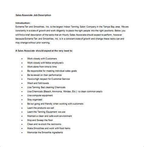 Sles Of Descriptions Templates by Retail Sales Associate Description For Resume Free