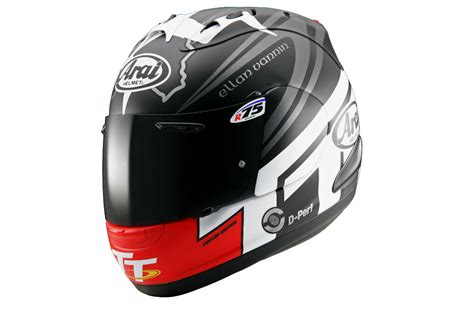 arai reveals 2014 rx 7 gp iom tt helmet visordown