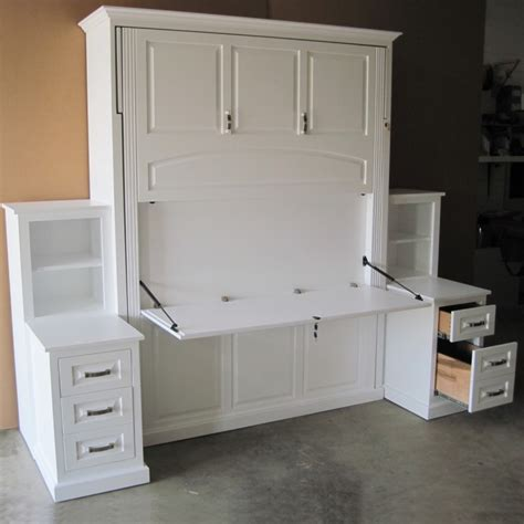 murphy beds with desk amish solid wood murphy bed country furniture
