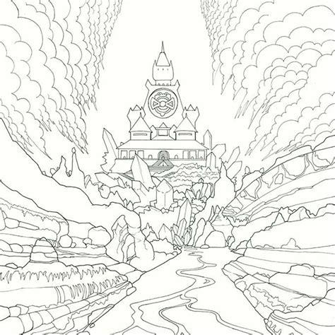 legendary worlds adult colouring book quartz palace