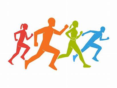 Running Marathon Runners Figures Runner Vector Silhouettes