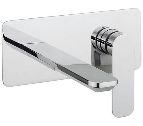 crosswater pier wall mounted  hole basin mixer tap set