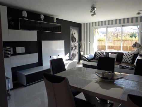 HD wallpapers decoration interieur salon noir et blanc