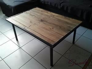 Table Basse Palettes : une table basse en bois de palette ~ Melissatoandfro.com Idées de Décoration