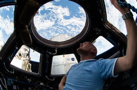 iss cupola astronaut gerst checks out station cupola nasa