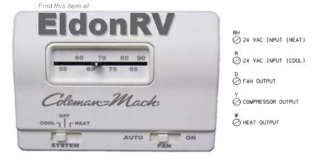 Thermostat Analog Vac Wire Heat Cool Coleman Mach