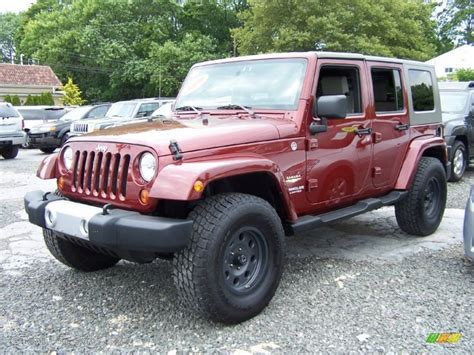 jeep sahara red red rock crystal pearl 2010 jeep wrangler unlimited sahara