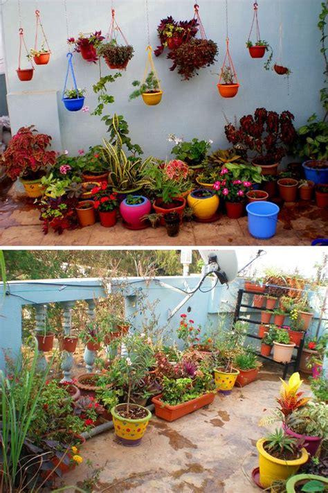 Home Garden Design Ideas India by Garden Tour Madhu S Colorful Terrace Garden Diy