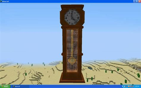 build  grandfather clock  minecraft