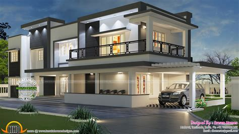 best modern house plans modern house plans india best of modern flat roof house in