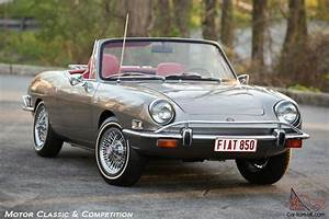 1971 Fiat 850 Spider  Restored And Charismatic  Wire Wheels And Luggage Rack