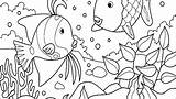 Coloring Aquarium Fish Pages Ecosystem Ocean Tank Drawing Habitat Printable Animal Getcolorings Getdrawings Drawings Pa Found Colorings sketch template