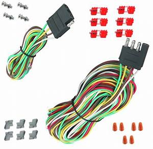 New 25 Ft 4 Way Trailer Wiring Connection Harness Set Rv Wiring Diagram