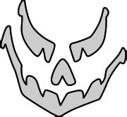 Scary O Lantern Template by Free Wood Carving Stencils Clipart Best