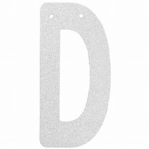 glitter letter banner garland 6inch silver letter d With silver letter banner