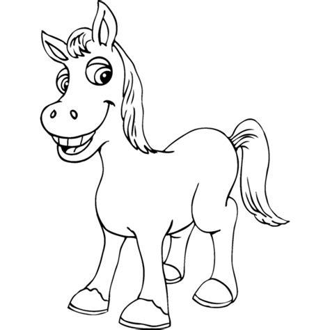 immagini di cavalli da colorare per bambini disegno di piccolo cavallo da colorare per bambini